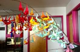Gr.5 Origami sculpture.