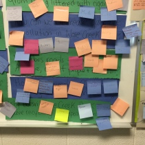 Learners picking their inquiry topic.