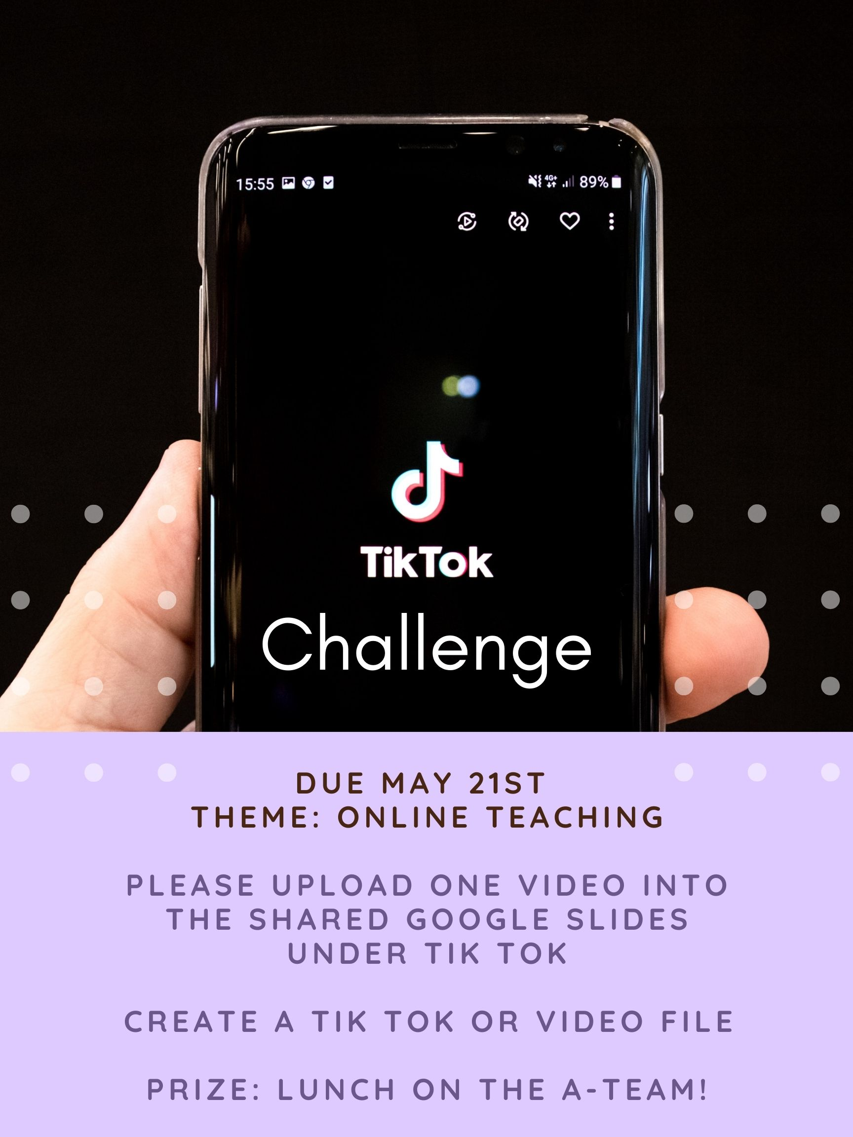 Tik-Tok-challenge contest poster